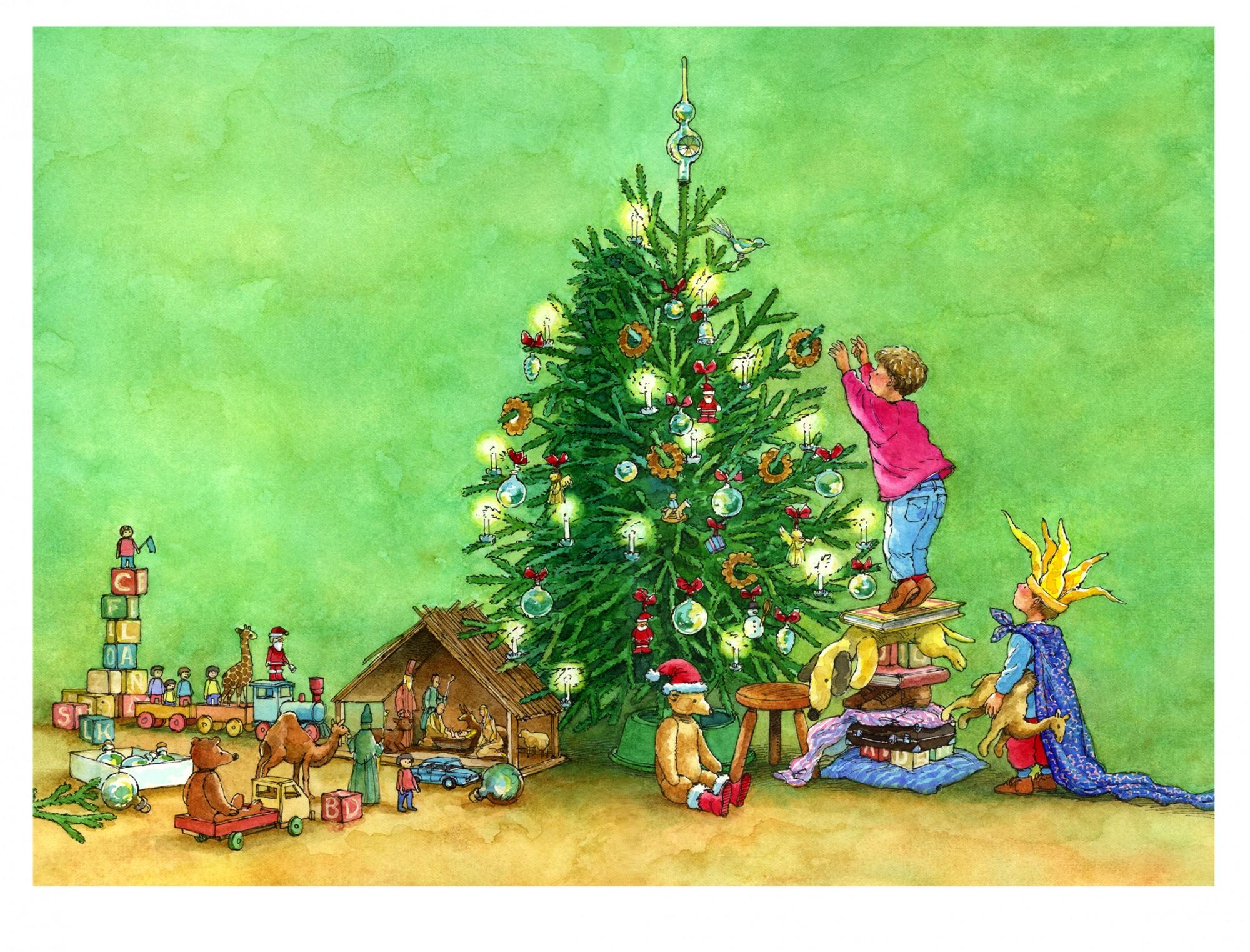Koekjes in de kerstboom © Ruud Bruijn