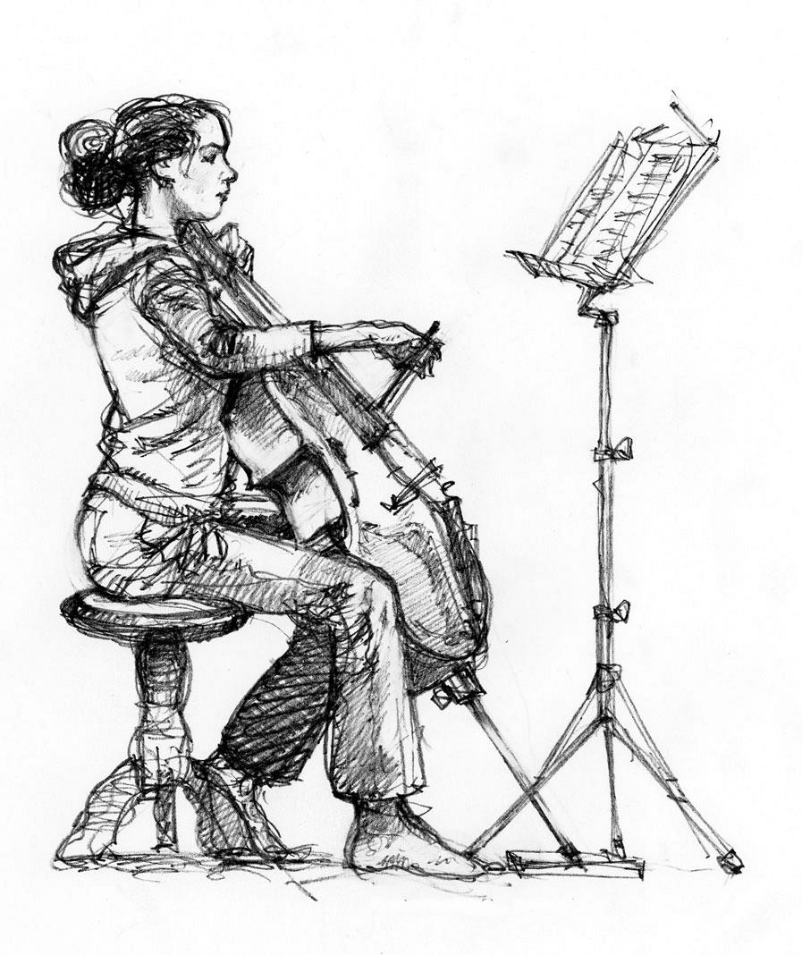 Anne-Marijn speelt cello © Ruud Bruijn
