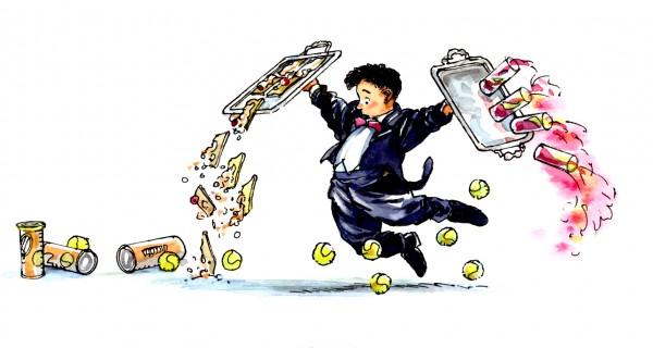 Strooigoed-Ober-tennisballen